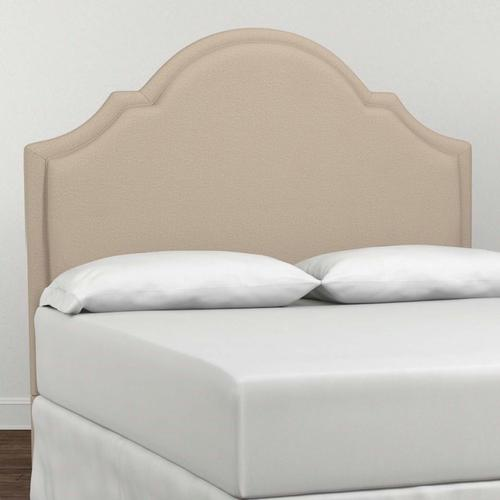 Custom Uph Beds Vienna Cal King Arched Bed, Footboard Low, Storage None, Insert Type Tufted
