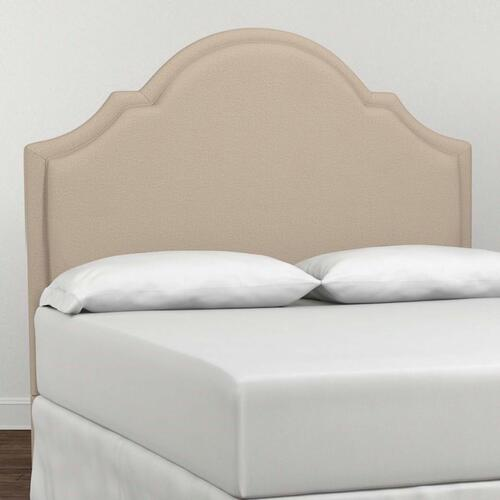Custom Uph Beds Dublin Full Straight Wing Bed, Footboard High, Insert Type Tufted