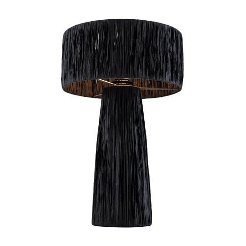 Product Image - Shelby Rafia Black Table Lamp