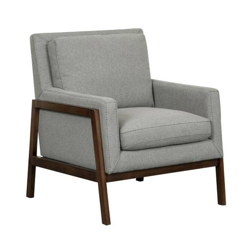 Wood Frame Accent Chair - Heather