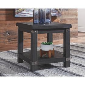 Delmar Rectangular End Table Black