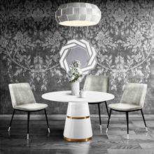 View Product - Evora Grey Velvet Chair - Silver Legs (Set of 2)