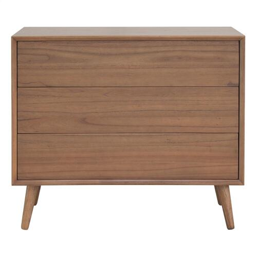 Product Image - Henley KD Chest 3 Drawers Wooden Legs, Newton Brown