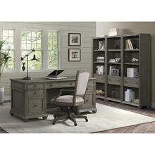 Sloane - Upholstered Desk Chair - Gray Wash Finish