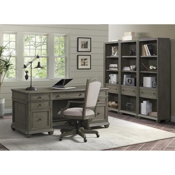 Riverside - Sloane - Executive Desk - Gray Wash Finish