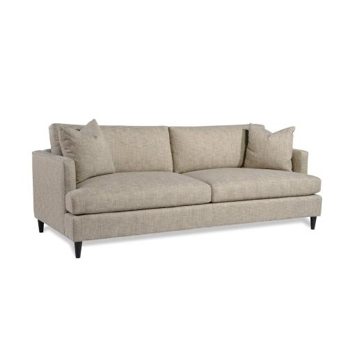 Joshua Sofa w/ round tapered wood leg