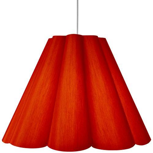 4lt Kendra Pendant Jtone Red, Large Polished Chrome