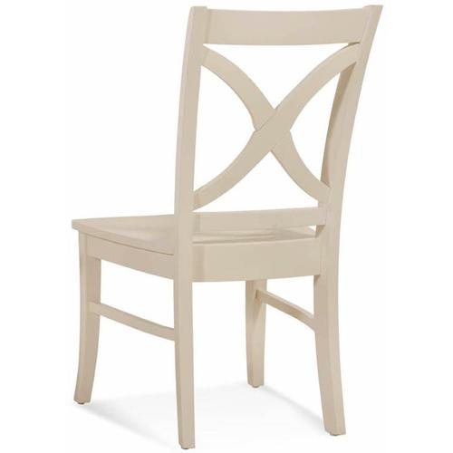 Hues Side Dining Chair with Wood Seat