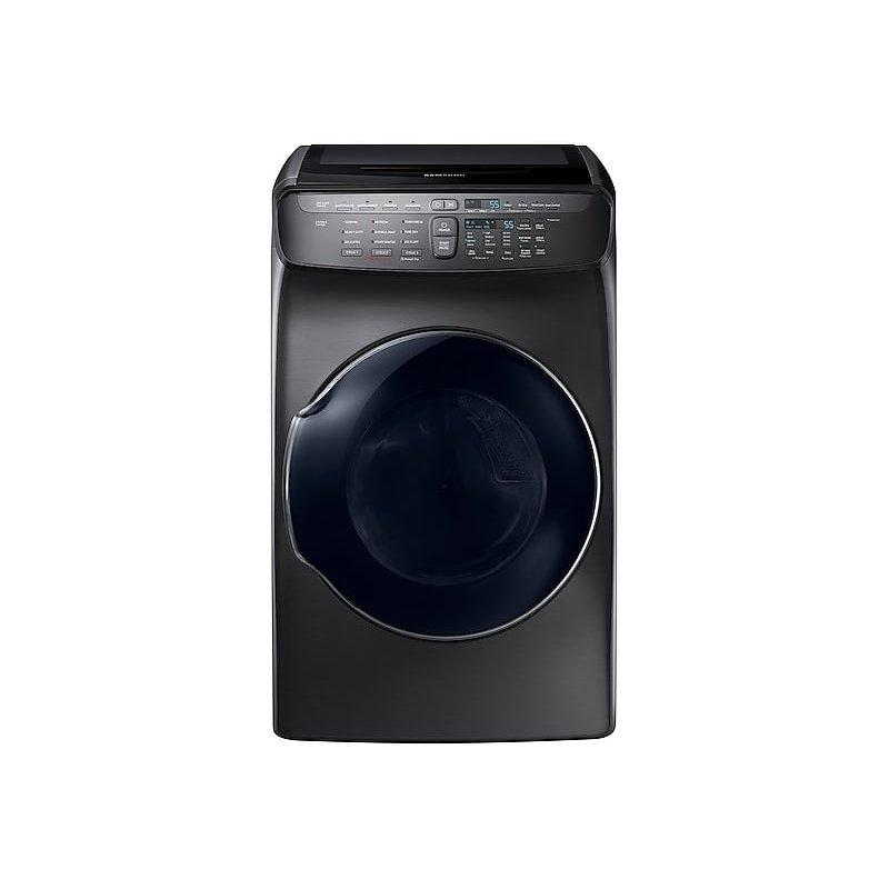 7.5 cu. ft. Smart Electric Dryer with FlexDry™ in Black Stainless Steel