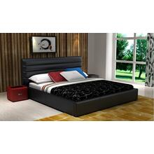 Modrest D532 Modern Black Bonded Leather Bed