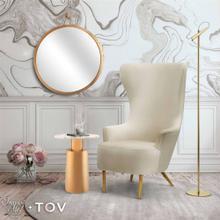 View Product - Julia Cream Velvet Wingback Chair