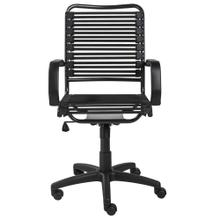 See Details - Allison Bungie Flat High Back Office Chair In Black With Graphite Black Frame and Black Base