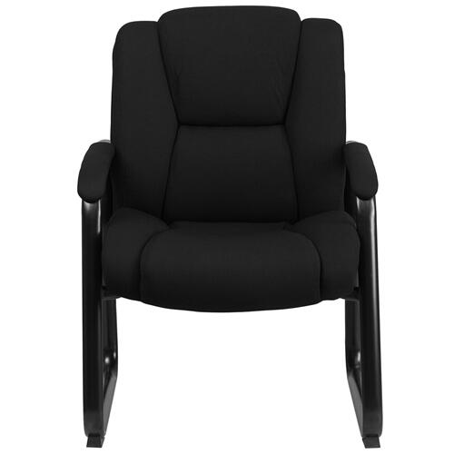 HERCULES Series 500 lb. Capacity Big & Tall Black Fabric Executive Side Chair with Sled Base