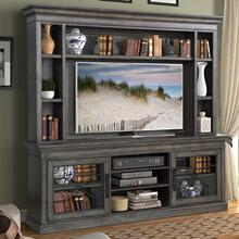 "SUNDANCE - SMOKEY GREY 92"" Console with Hutch"
