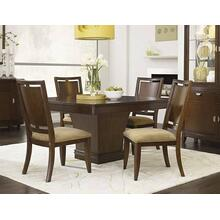 Skyline Pedestal Dining Room & Wood Back Chair
