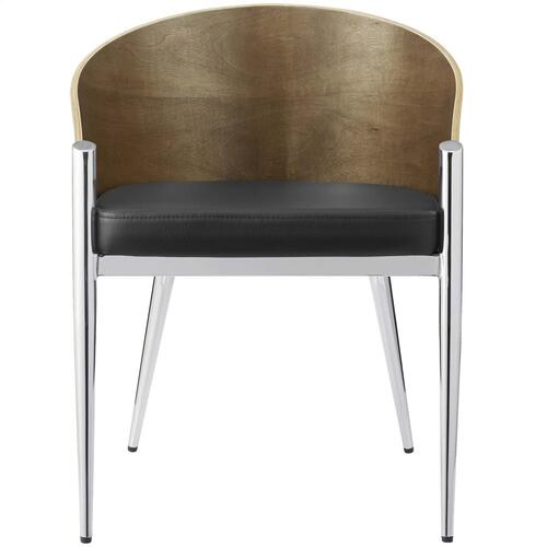 Cooper Dining Wood Armchair in Silver