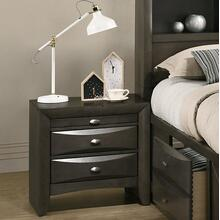 Leslie Gray Solid Wood Night Stand