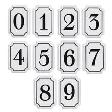 See Details - Black & White Enamel Number Tag (10 pc. ppk.)