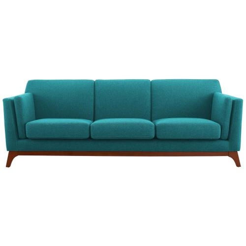 Chance Upholstered Fabric Sofa in Teal