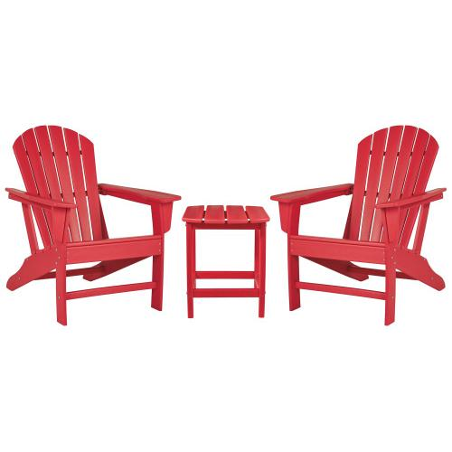 2 Outdoor Chairs With End Table