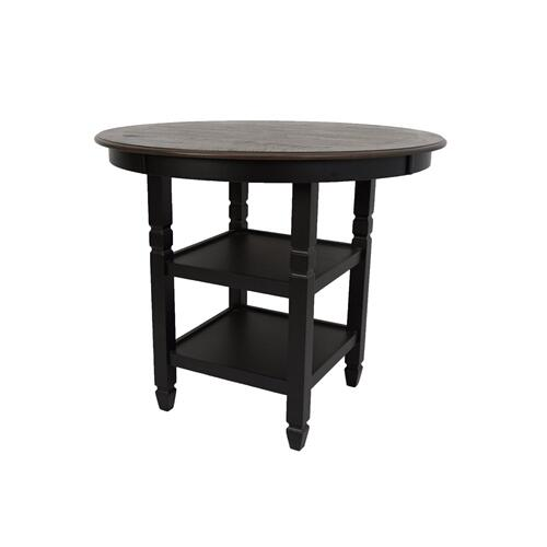 Prairie Point Rect Counter Table W/shelves