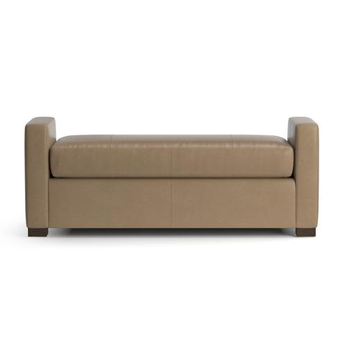 See Details - Belmont Leather Bench