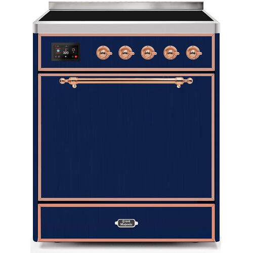 30 Inch Blue Electric Freestanding Range