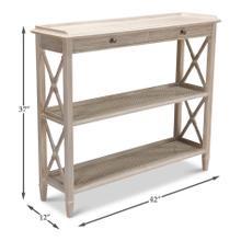 Winston Bookcase, Whitewash White Finish
