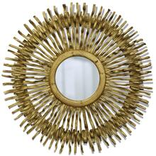 CROWN VINE MIRROR  39w X 39ht X 2d  Painted Gold Round Mirror Made From Liana Vines
