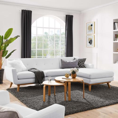 Modway - Engage Right-Facing Upholstered Fabric Sectional Sofa in White