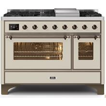 48 Inch Antique White Dual Fuel Natural Gas Freestanding Range