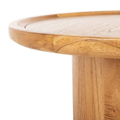 Safavieh - Devin Round Pedestal Coffee Table - Natural Brown