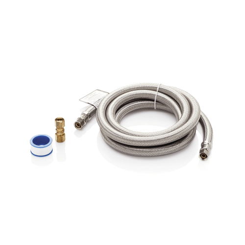 Frigidaire - Smart Choice 6' Long Stainless Steel Braided Refrigerator Water Supply Line