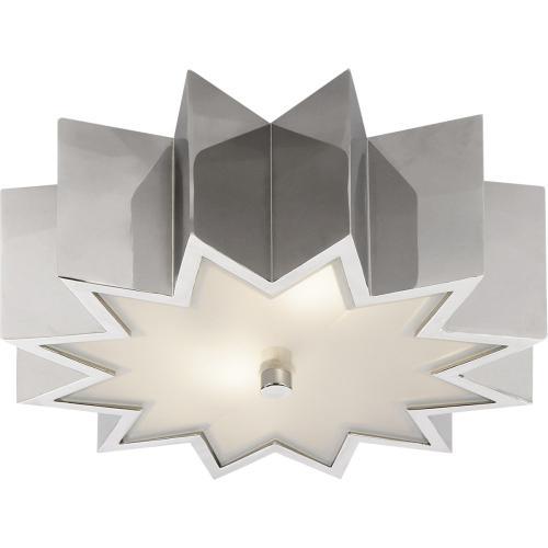Visual Comfort AH4020PN-FG Alexa Hampton Odette 2 Light 15 inch Polished Nickel Flush Mount Ceiling Light