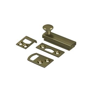 """Deltana - 2"""" Surface Bolt, Concealed Screw, HD - Antique Brass"""