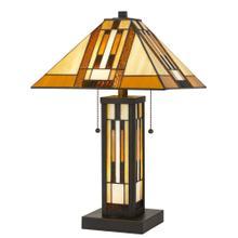 Tiffany Table Lamp W/7W Night Light