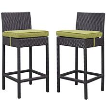 Lift Bar Stool Outdoor Patio Set of 2 in Espresso Peridot
