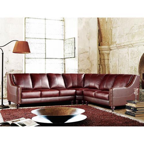 Divani Casa 3024 - Brown Top Grain Italian Leather Sectional Sofa