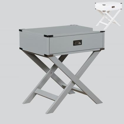See Details - Hudson Chairside Table Grey