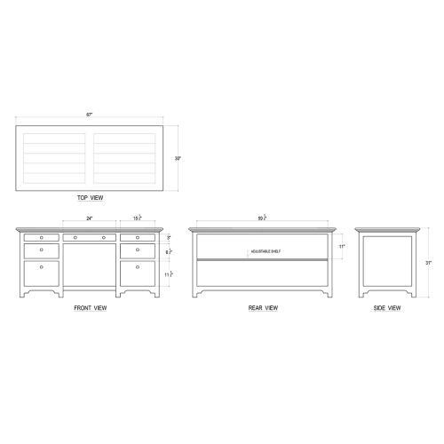 Bramble - Library Desk