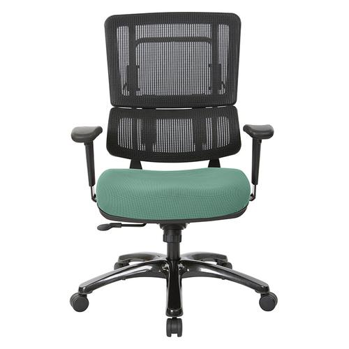 Vertical Black Mesh Back Chair With Shiny Black Base