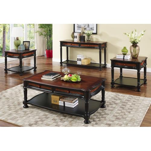 JAMAICA End Table in two tone cherry/tobacco finish          (03-0020-50-621,58160)
