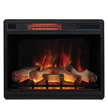 "See Details - 28"" 3D Infrared Quartz Electric Fireplace Insert with Safer Plug® and Safer Sensor™"