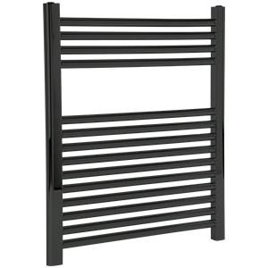 """Denby Towel Warmer 27"""" x 24"""" Hydronic Black Product Image"""