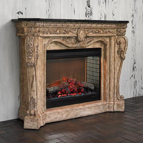 Ambella Home - Floral Electric Fireplace