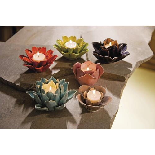 Leona Assorted Flower Candleholders - Set of 6