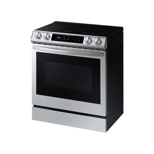 Samsung - 6.3 cu. ft. Smart Slide-in Induction Range with Smart Dial & Air Fry in Stainless Steel