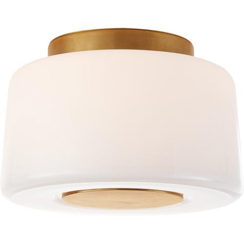 Visual Comfort BBL4105SB-WG Barbara Barry Acme 3 Light 9 inch Soft Brass Flush Mount Ceiling Light, Small