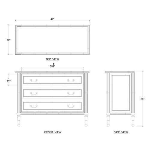 Martinique Dresser w/ 3 Drawer
