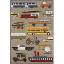 Lil Mo Whimsy Transportation Lmj-08 Concrete - 2.0 x 3.0